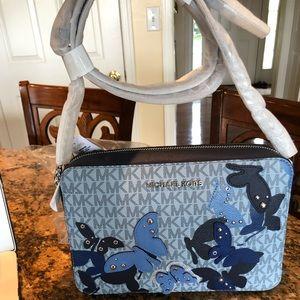 NWT Michael Kors butterflies crossbody bag